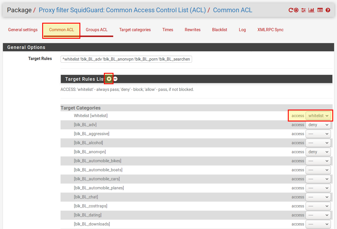 PfSense Web Filter - Filter HTTP(S) with SquidGuard | Open