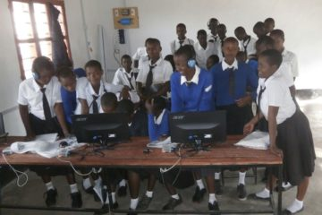 Tanzanian Students at Mekomariro Secondary School