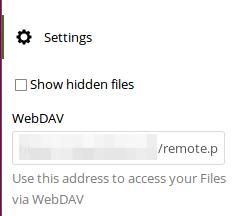 Nextcloud Webdav