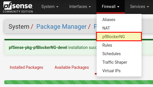 pfsense webfilter with pfblockerng