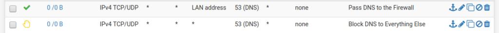 pfsense DNS rule